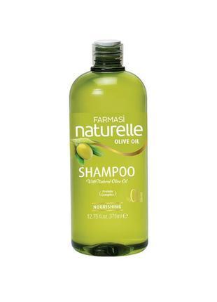 Шампунь для сухих и поврежденных волос оливка farmasi shampoo olive oil