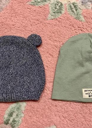 Две демисезонные шапочки h&m за 150грн
