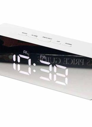 Настольные часы зеркало led