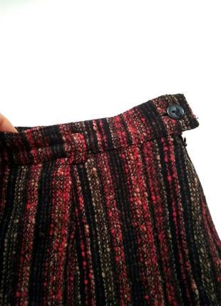 Теплая юбка в полоску