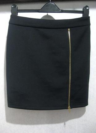 Юбка зимняя тёплая мини короткая jeane blush чёрная