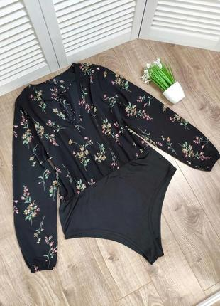 Боди/блуза в цветочный принт missguided, uk 22
