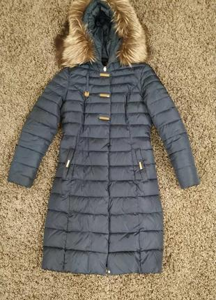 Теплый  зимний пуховик  за 750 грн