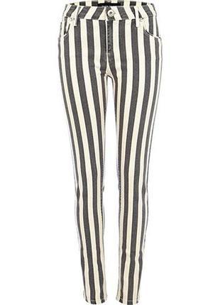 Джинсы женские брюки в полоску