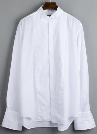 Белая рубашка оверсайз, женская рубашка белая большая, объемная рубашка