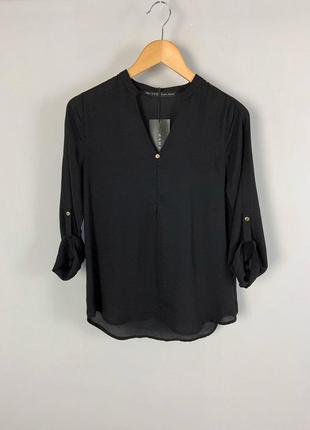 Черная качественная свободная блузка zara