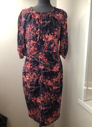 Интересное шелковое платье принт абстракция , натуральный шёлк, шелк, шовк, whistles
