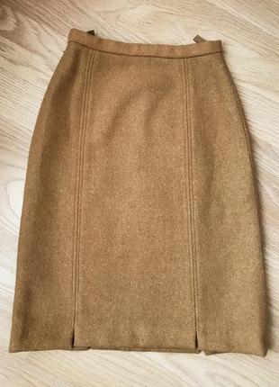 Винтажная зимняя юбка из плотной шерсти англия alexon