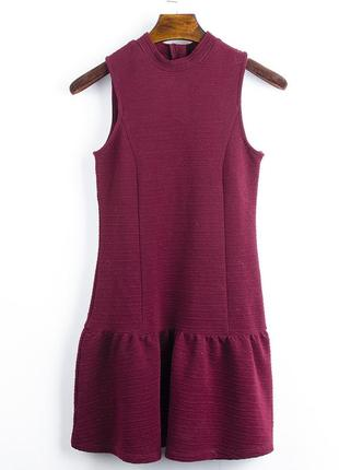 Бордовое платье короткое new look