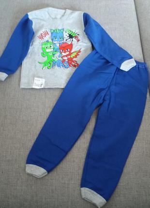 Пижама хлопок на байке / теплая пижама