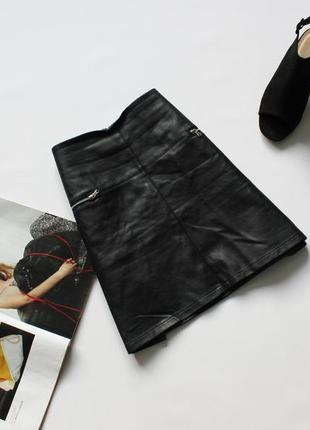 Красивая юбка эко кожа трапеция 14 хл