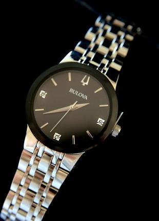 Бриллианты! женские часы с бриллиантами bulova подарок девушке, діаманти