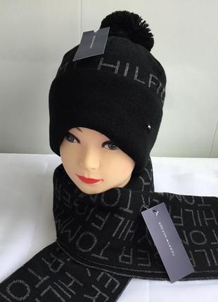 Комплект шапочка и шарфик tommy hilfiger новый