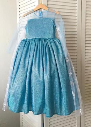 Детское нарядное платье принцессы эльзы, frоzen для девочек 92-134 см