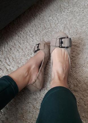 Кожаные балетки туфли от geox