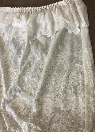 Тюль шторы на кухню готовая /занавеска