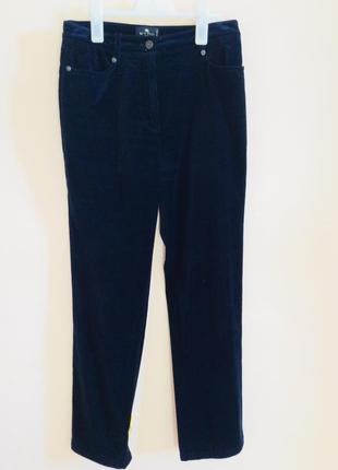 Велюровые брюки темно синего цвета . оригинал
