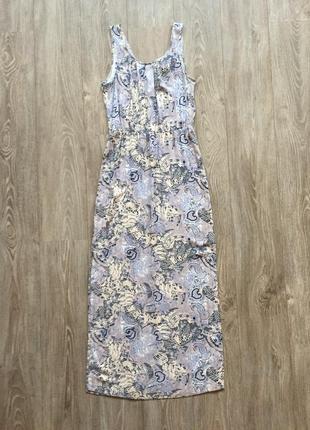 Платье длинное с принтом vero moda