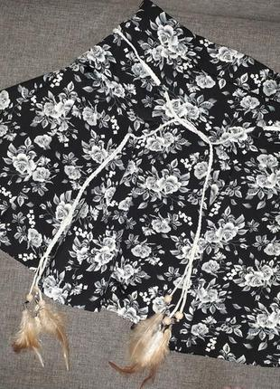 Юбка солнце клёш с шортами юбка-шорты.