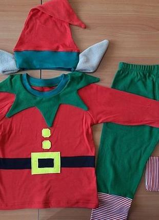 Новогодний костюм эльф для мальчика рр. 62-122