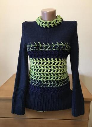 Полушерстяной свитер stefanel