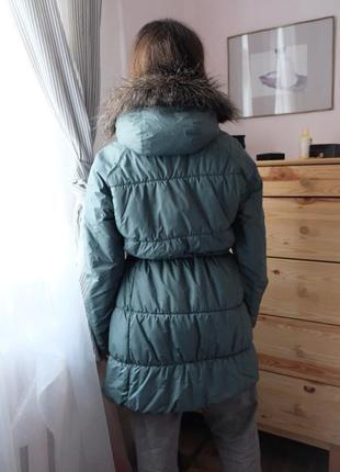 Зимова парка, куртка, columbia, зимняя куртка бирюзовая, зелёная, мятная