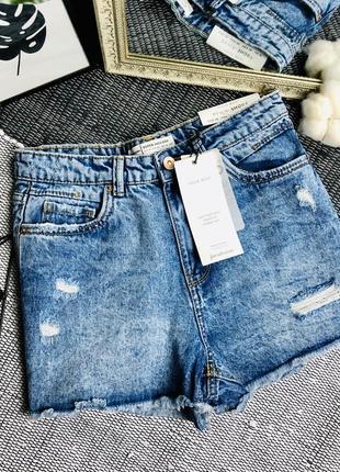 Джинсовые шорты #stradivarius р-р 38 будут на 36