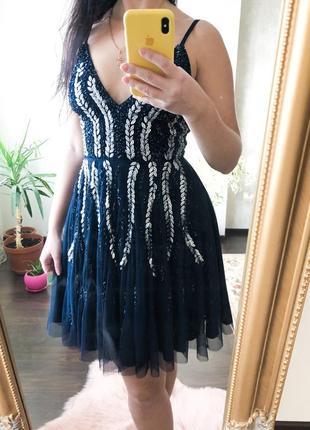 Платье в стразы lace&beads