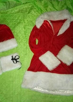 Новогодний костюм помошницы санты дед мороза