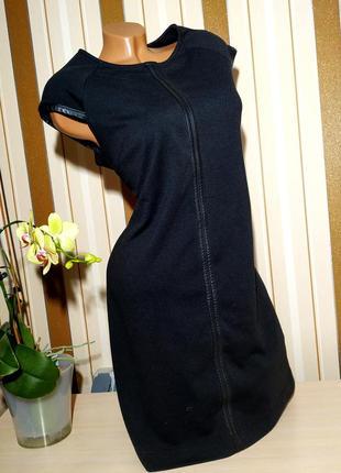 Елегантное платье с вставками дерматина