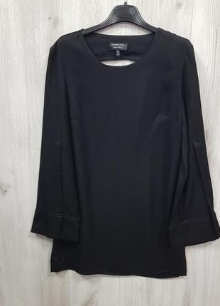 Черное сатиновое платье