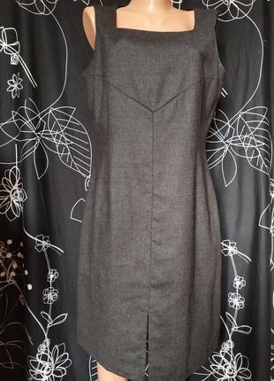Шикарный костюм сарафан 100%шерсть talex