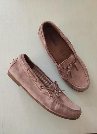 Gabor замшевые туфли мокасины