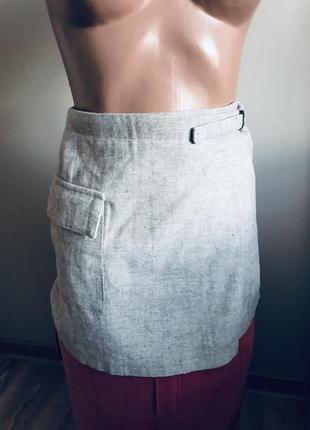 Шерстяная актуальная  тёплая стильная брендовая юбка на запах ❄️