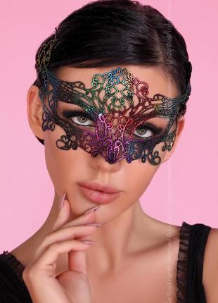 Маска разноцветная твердое кружево mask livia corsetti на корпоратив или новогоднюю ночь
