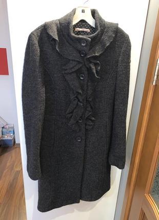 Пальто из валеной шерсти