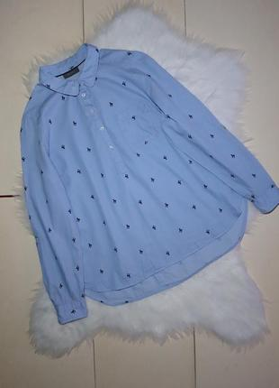 Рубашка блузка голубая косуля