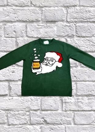 Рождественский свитер с дедом морозом