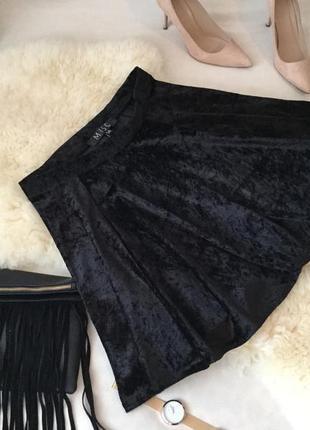 Очаровательная брендовая велюровая юбка солнцеклеш от miso ... 👠❤️💋