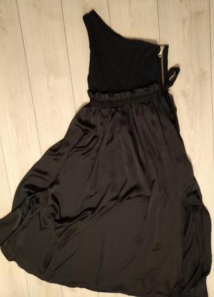 Черное длинное платье ланвин