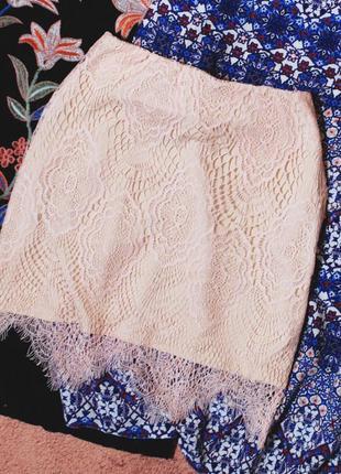 Тотальная распродажа! красивейшая юбка с кружевом