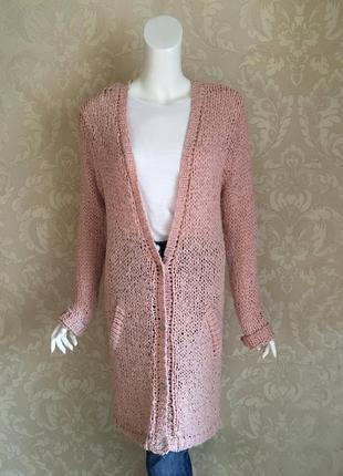 Maison scotch розовый шифоновый длинный кардиган платье