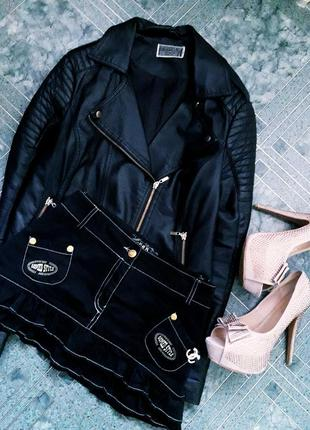 Нереально крутая/стильная мини юбка с рюшами/оборками/валанами g&d gomed style fashion.