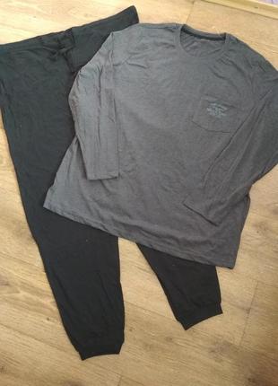 Батал! новая хлопковая пижама/домашний костюм livergy, р. 64-66