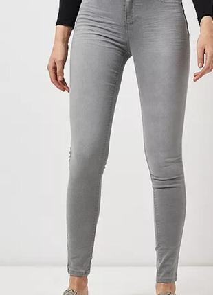 Фирменные серые зауженные узкие джинсы скинни ellos, размер 44 - 46