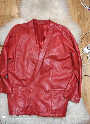 Шикарная кожаная куртка 50-52 размер