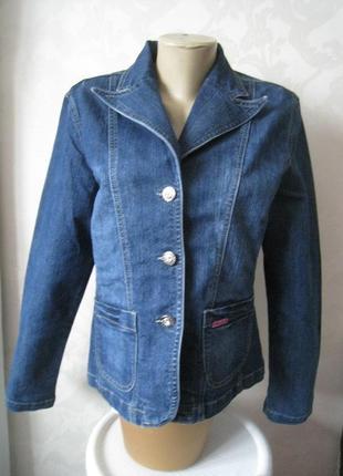 Пиджак джинсовый классический