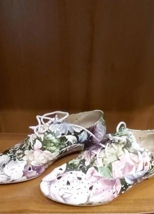 Туфли на шнуровке attizare натуральная кожа