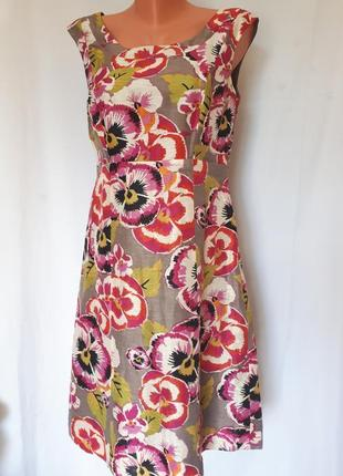 Натуральное платье шёлк+лён
