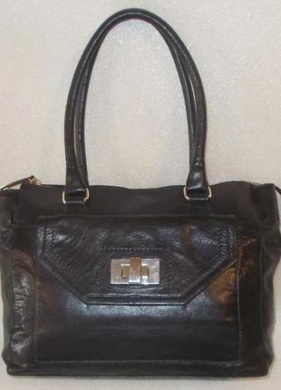 Классическая сумка *m & s* натуральная кожа
